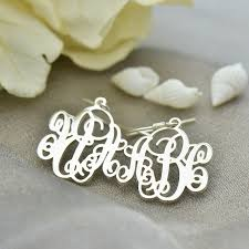 Monogrammed Earrings Jewelry Picture More Detailed Picture About Sterling