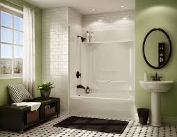 Bathroom Shower Windows by Green Black And White Bathroom Design Present One Piece Bathtub