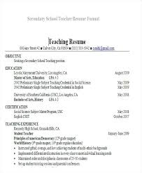 teachers resume template teaching resume templates secondary school format faculty