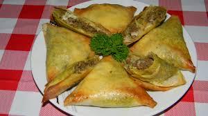 cuisine familiale rapide samoussas de bœuf haché aux curry menthe tomate chèvre ou gruyère