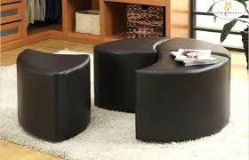 side table tufted ottoman wicker ottoman coffee table storage