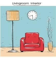 cartoon apartment livingroom interior house room vector image