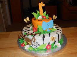 baby shower cake jungle descake2 baby shower diy