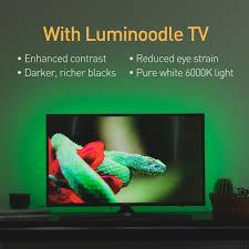 led strip lights for tv luminoodle bias lighting tv u0026 monitor backlight power practical