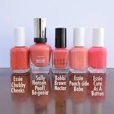 orange nail polish comparisons essie chubby cheeks sally hansen