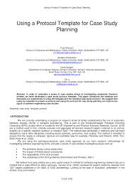 using a protocol template for case study planning pdf download
