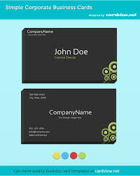 Networking Business Card Examples 3 Minimal Corporate Business Cards