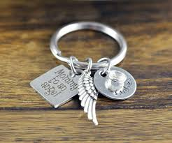 Remembrance Keychain Forever In My Heart Key Chain Memorial Keychain Remembrance