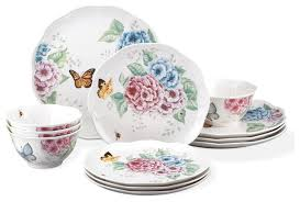 lenox butterfly meadow hydrangea 12 dinnerware set