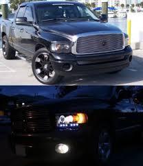 2003 dodge ram tail lights dodge ram 3500 2003 2005 black projector headlights and led tail