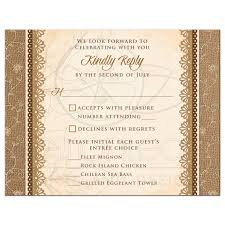 Invitation Reply Card Wedding Meal Choice Rsvp Card Rustic Burlap Lace
