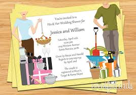 coed bridal shower his and hers wedding shower invitation