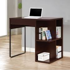 Standing Writing Desk by Coaster Standing Desk In Cappuccino And Black With Power Outlet