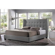 Upholstered Footboard King Size Upholstered Bed Frame Headboard Footboard Rails Grey