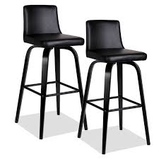metal and leather dining chairs furniture black leather bar stools with back on curved black