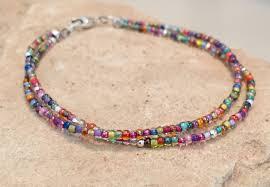 sterling bangle bead bracelet images Multicolored seed bead bracelet toho seed beads sterling silver jpg