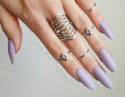 lavender purple fake nails press on nails matte nails