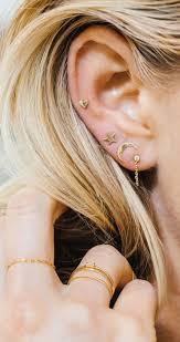 earrings for pierced ears best 25 3 ear piercings ideas on ear peircings
