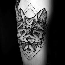 best 25 geometric wolf tattoo ideas on pinterest geometric wolf