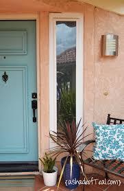 custom curtain front door window