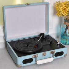 vintage vinyl record player 3 speed turntable stereo rca mp3