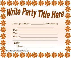 birthday party invitation templates online free themesflip com