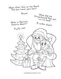 jokes free santa coloring printable christmas pages