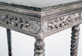 Silver Leaf Nightstand Antique Swedish Parcel Silver Leaf U0026 Marble Console Table