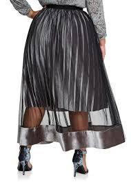 pleated skirt buy pull on mesh velvet pleated skirt silver filigree clearance