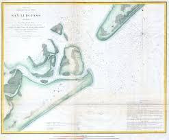 Texas Coast Map File 1853 U S C S Coast Chart Or Map Of San Luis Pass Texas