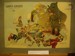 European Map 1914 by A Collection Of Satirical Maps Of Europe Vivid Maps