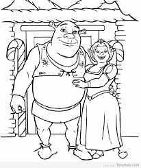 shrek coloring page timykids