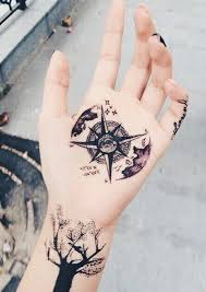 tattoo compass hand 110 best compass tattoo designs ideas and images tattoo hand