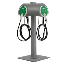 wall mounted charging station schneider electric evlink 30 amp level 2 outdoor pedestal electric