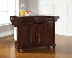 kitchen island with stainless top kitchen ideas stainless steel kitchen island with leading