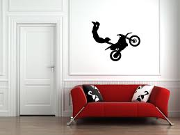 amazon com motocross wall decal sticker 9 decal stickers and amazon com motocross wall decal sticker 9 decal stickers and mural for kids boys girls room and bedroom dirt bike wall art for home decor and decoration