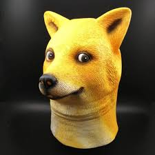 Doge Meme Images - wow doge meme mask kabosu face latex headgear such shiba dog