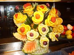fruit flower arrangements a flower arrangement made entirely of fruit by the amazing chefs