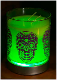 even unlit the effect of this hocus pocus glolite jar candle