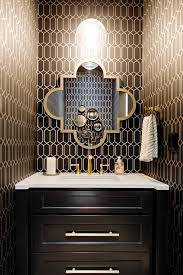powder rooms powder room transitional with gold accents door