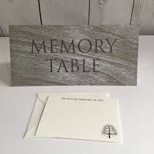 funeral sign in book memory table tent card grey wood effect funeral