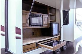 Rv Under Cabinet Tv Mount 10 Rvs With Amazing Outdoor Entertaining U0026 Kitchens U2013 Welcome To