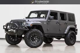 jeep rubicon white 2017 starwood motors 2017 jeep wrangler unlimited 4x4 lift liner winch