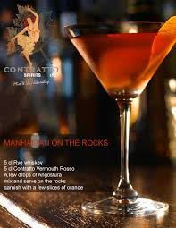 manhattan drink illustration contratto