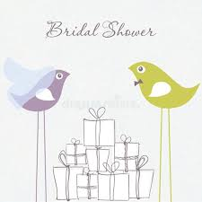 congratulations bridal shower bridal shower invitation with two birds in stock vector