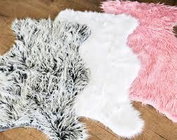 White Skin Rug Animal Skin Rugs Etsy
