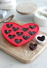 valentines day chocolate chocolate truffle hearts with fleur de sel satori design for living