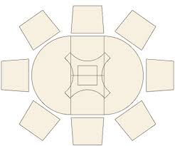 cherry wood circular extending dining table