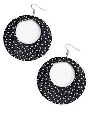 black and white polka dot ribbon retro black white polka dot ribbon earrings candy apple costumes