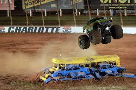 monster truck jam charlotte nc metal mashing monster trucks invade the dirt track at charlotte on